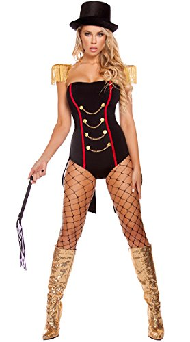 Roma Costume Women's 4 Piece Ravishing Ringleader, Black/Gold, Small/Medium from Roma Costume