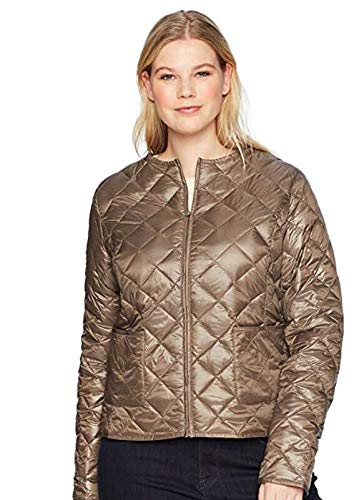 The Plus Project Women's Quilted Really Light Down Vest X-Large Beige ()