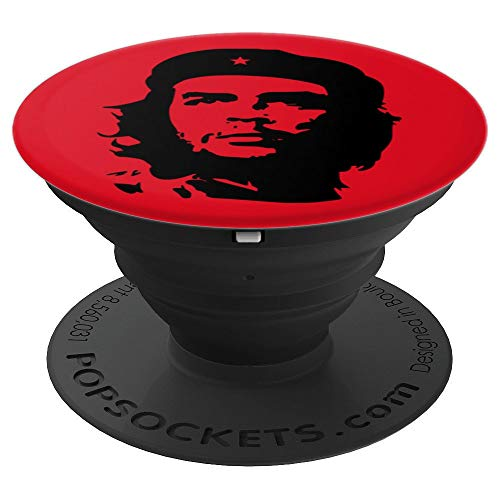 Guevara Che Face - Che Guevara Face Silhouette - PopSockets Grip and Stand for Phones and Tablets