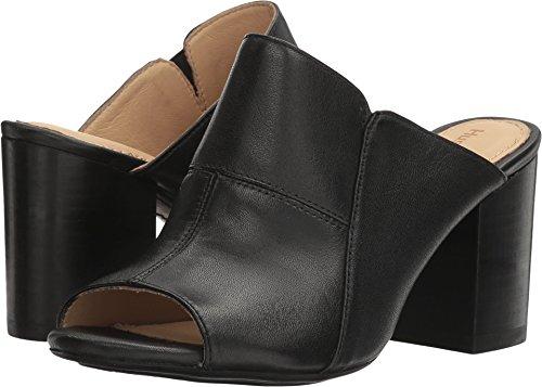 (Hush Puppies Women's Sayer Malia Heeled Sandal, Black Leather, 7.5 W US)