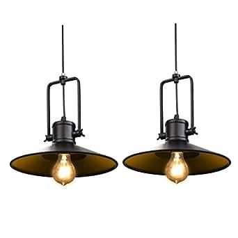 Fuloon Vintage Retro Lámpara de Pared con Estilo de Jaula de Industrial Creativa Luz lámpara de Techo Colgante para Almacén Casa Pasillo ( 2 piezas)