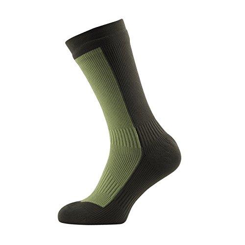Sealskinz 111161705333-S Hiking Mid Socks Golden Olive//DK Olive Small
