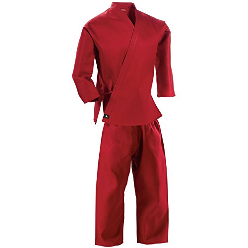 Century Martial Arts Middleweight Student Uniform with Elastic Pant - Red, 4 - Adult Medium