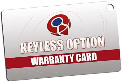Black 2 KeylessOption Replacement 3 Button Keyless Entry Remote Control Key Fob
