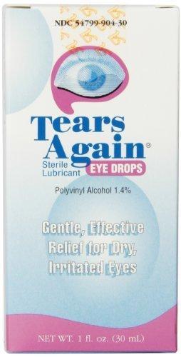 Tears Again Eye (Tears Again Eye Drops, Sterile Lubricant, 1 fl oz (30 ml) (Pack of 4) by Ocusoft)