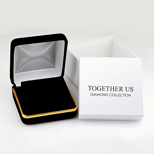 TOGETHER US DIAMOND COLLECTION Sterling Silver Two Stone White Diamond Fashion Earring (0.33 Cttw) by D-GOLD (Image #3)