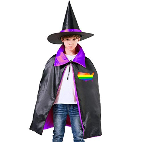 (Children Gayest Cities In America Halloween Party Costumes Wizard Hat Cape Cloak Pointed Cap Grils)