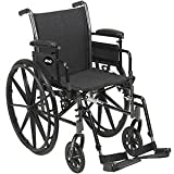 "Alimed Cruiser III Lightweight Wheelchair 42"" L x 28"" W x 35"" H, With Flip Back Detachable Desk Arm and Swing-Away Foot Rest"