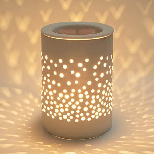 Bobolyn Ceramic Electric Wax Melt Warmer Candle Waxing Warmer Burner Melt Wax Cube Melter Fragrance Warmer- Ideal Gift for Wedding, Spa and Aromatherapy