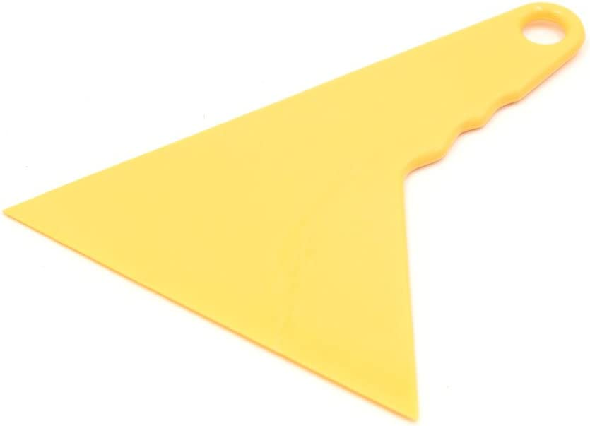 uxcell 4 Pcs Plastic Triangle Tip Scraper Window Film Squeegee Vinyl Sticker Wrapping Tool for Auto