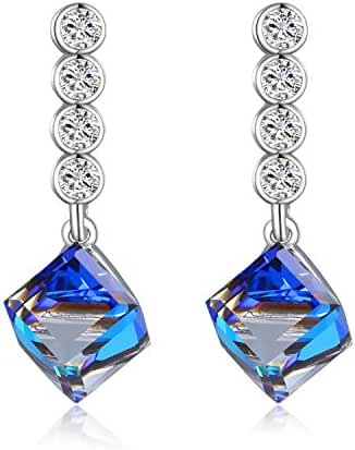 Kesaplan Luxurious Blue Earring Party Gift, Crystals from Swarovski Fashion Jewelry