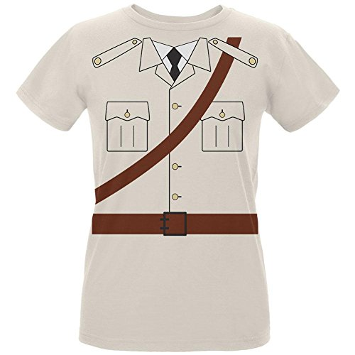 Female Safari Costumes (Halloween Safari Explorer Dr. Livingstone Costume Womens Organic T Shirt Natural SM)