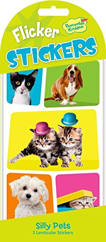 Lenticular Stickers (Peaceable Kingdom Flicker Sticker Silly Pets Lenticular Sticker Pack - Flicker Stickers)