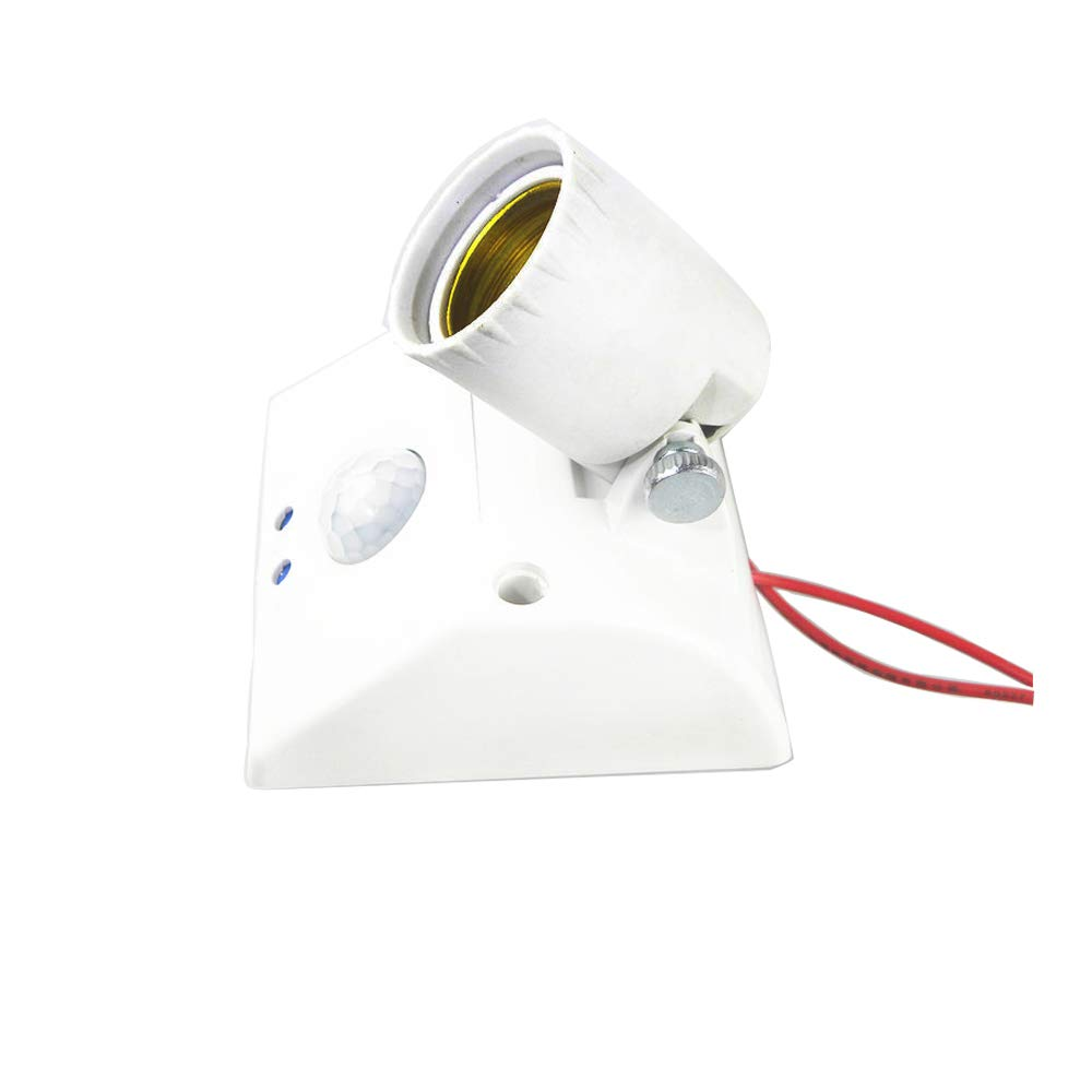 E26/E27 Motion Sensor Light Socket Infrared Sensor Adapter Wall Mount PIR Motion Sensor E27 Adjustable Light Socket