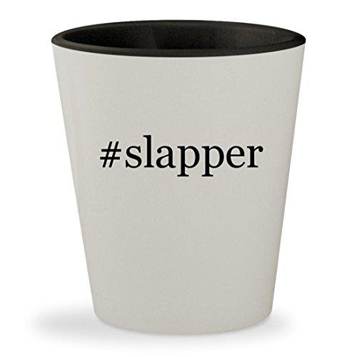 Price comparison product image #slapper - Hashtag White Outer & Black Inner Ceramic 1.5oz Shot Glass
