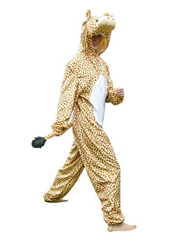 Fantasy World Giraffe Costume Halloween f. Men and Women, Size: M/ 08-10, (Cheap Homemade Halloween Costumes For Groups)