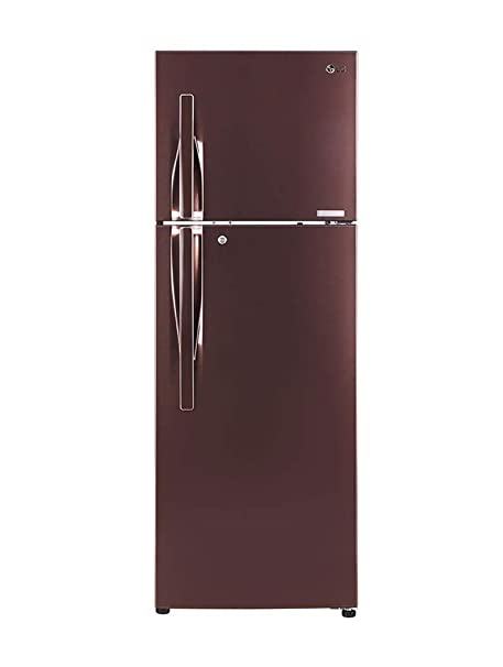 LG 360 L 4 Star Frost-Free Double-Door Refrigerator (GL-T402JASN, Amber Steel, Inverter Linear Compressor) Refrigerators at amazon