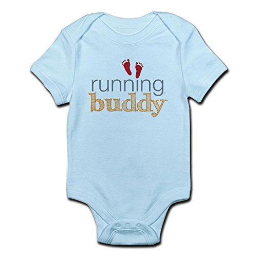 CafePress Running Orange Infant Bodysuit