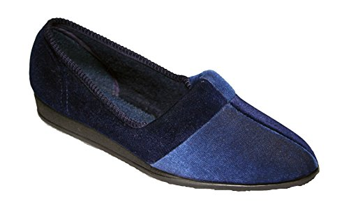 Comfylux Jessie Ladies Slippers Textile - Blueberry - Lined: Textile Blueberry ZTOQA
