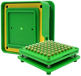 64 Holes (0#) Capsule Holder with Tamper for Size 0 Capsules Holding Tray