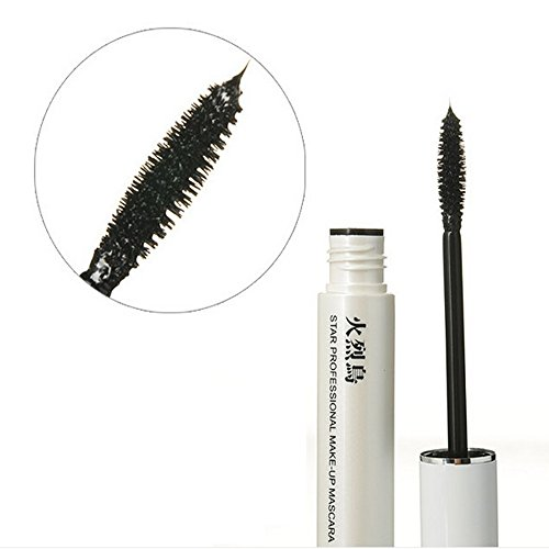 Black 3D Fiber Eyelash Makeup Mascara Extension Curling Thick (Non Smudge Halloween Makeup)