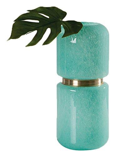Torre & Tagus 902104B Audrey Brass Ring Deco Vase, Jade, ...