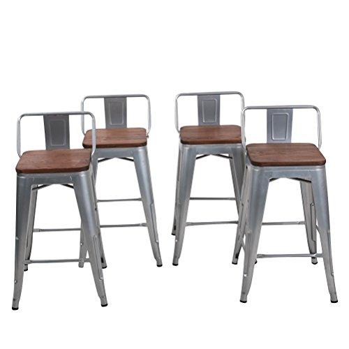 Amazon Com Changjie Furniture Low Back Metal Bar Stool