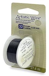 Artistic Wire 32-gauge Black Wire, 30-yards