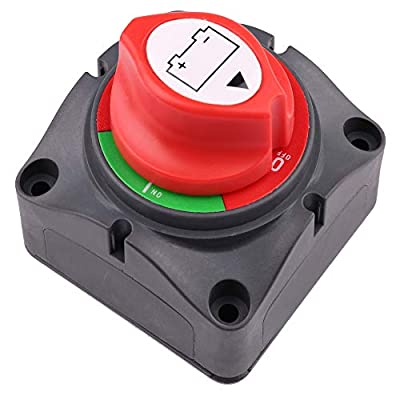 LotFancy Battery Switch, 6V-60V DC, Battery Disconnect Switch for Marine, Boat, Car, Auto, RV, ATV, UTV, Vehicles