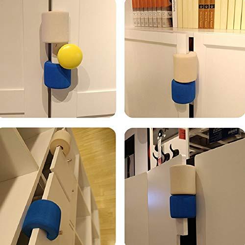 - Door Stop Stopper Holder Polyfoam Toilet Glass Doorstop Baby Helper Safety Finger Pinch Guard Lock Protector Furniture Hardware