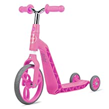 Vokul Gh05 Mini Kick Scooter Big Wheel-Age 2-5 Years, Height 95-120cm Pink