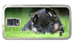 Hipster sparkly Samsung Galaxy S5 Case german shepherd puppy PC Transparent for Samsung S5