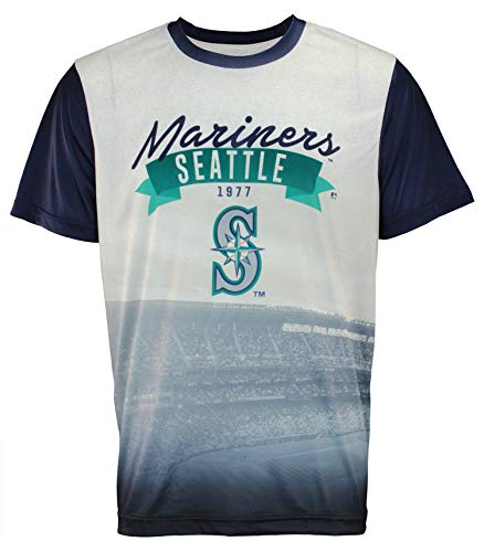 FOCO MLB Men's Outfield Photo Tee, Seattle Mariners ()
