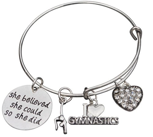Infinity Collection Gymnastics Bangle Bracelet- Gymnastics Bracelet- Gymnastics Jewelry for Gymnast