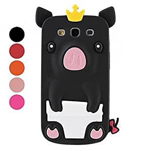 Cute Pig Silicone Back Case for Samsung Galaxy S3 I9300 (Assorted Colors) --- COLOR:Pink