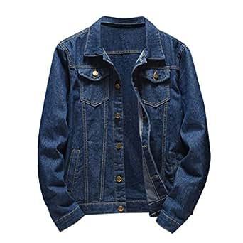 Amazon.com: Dowager Men Vintage Jacket with Hood Zipper ...
