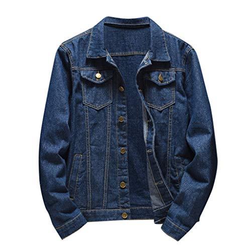 Men's Classic Lightweight Jean Jacket Coat Autumn Winter Casual Long Sleeve Denim Jacket Coat