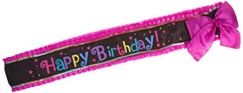 Deluxe Party Outfit - Amscan Bright and Trendy Birthday Party Deluxe Sash Accessory (1 Piece), 30