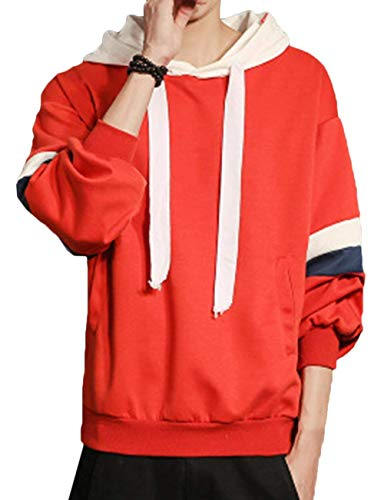 Moda moderno con Fit manica cappuccio taglia patchwork Casual Inverno 13 colore lunga tasche Uomo Slim L Pullover Felpa Autunno YHBqHv