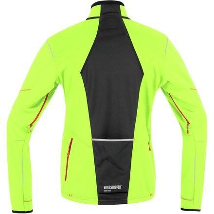 Gore Bike Wear Men's Fusion Tool Windstopper  Soft Shell Jacket, Neon Yellow/Black, Medium