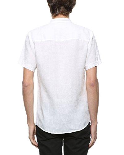 Bylunta Men 39 S 100 Linen Summer Short Sleeve Banded Collar