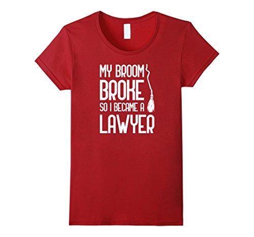 Womens Broom Broke Became Lawyer DIY Costume Office Job XL Cranberry