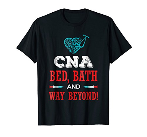 CNA Bed Bath Funny Humor T shirt Work Job Gifts for CNAs RN ()