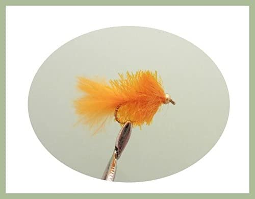 12 ORANGE  BLOBS//TROUT FLIES//FLY FISHING size 10
