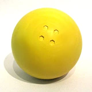 Boßelkugel aus Gummi (gelb)