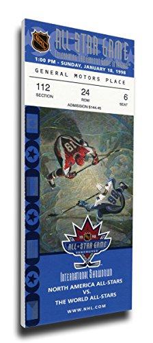 That's My Ticket 1998 NHL All-Star Game Mega Ticket Wall Decor, Canucks Host, MVP Teemu Selanne, Ducks