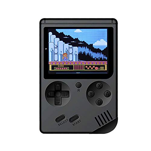 AutumnFall Clearance Sale Handheld Game Player for Children-Portable Retro Mini Handheld Video Game Console Gameboy Built-in 500 Classic Games USB Charge Birthday for Children (Black)