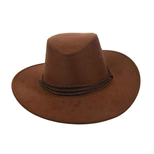 - CHENTAI New Cowboy Cap Suede West Fancy Cowgirl Unisex Hat