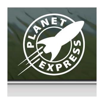 Futurama White Sticker Decal Planet Express White Car Window Wall Macbook Notebook Laptop Sticker Decal