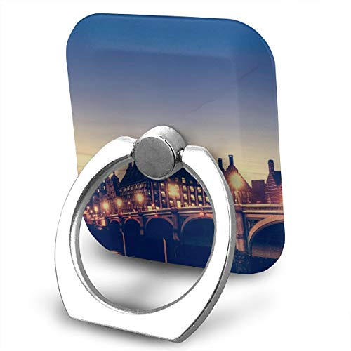 Cell Phone Holder Stand London Night 360 Degrees Rotation Universal Finger Grip for All Phones -